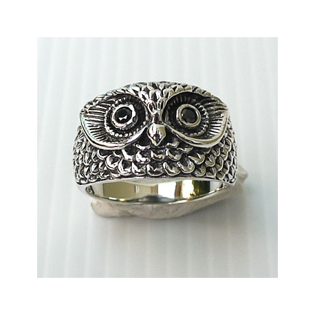 """Красивое серебряное кольцо """"Сова"""""""