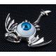 """Готический кулон """"Глаз"""" с крыльями"""