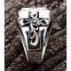Кольцо с сапфиром и крестами