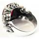 Готическое кольцо с рубином