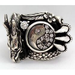 """Перстень """"Дракон и Инь-Ян"""""""