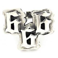 """Серебряное кольцо """"666"""""""