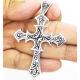 Кулон крест с узорами