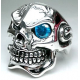 Тяжелый серебряный перстень с голубым топазом