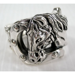 """Кольцо серебряное """"Лошадь"""""""