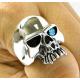 Классический перстень с голубым топазом