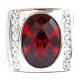 Кольцо с полосой и рубином