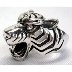 """Кольцо серебряное """"Тигр"""""""