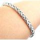 Плетенный браслет из серебра
