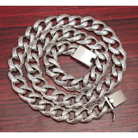 Панцирная цепь с узорами