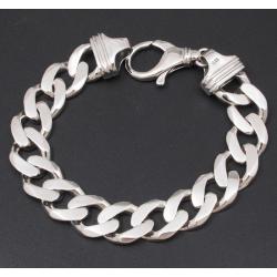 Широкий панцирный браслет