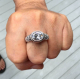 Кольцо с большим топазом