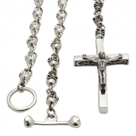 Цепочка с крестом из черепов