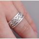 Крутящееся кольцо плетенное