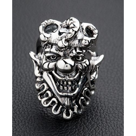 """Серебряное кольцо """"Джокер"""""""