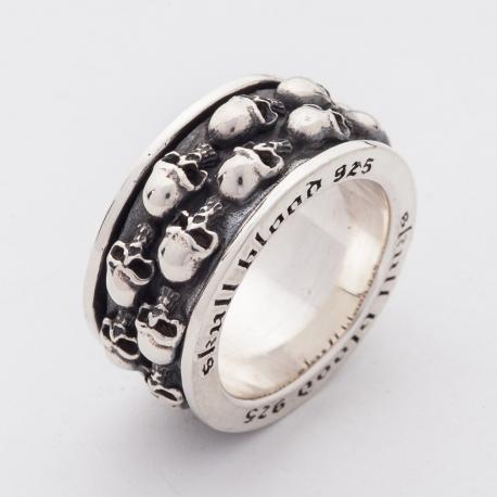"""Вращающееся кольцо """"Черепа"""""""