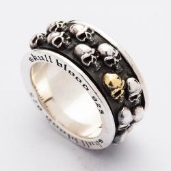 """Крутящееся кольцо """"Черепа"""""""