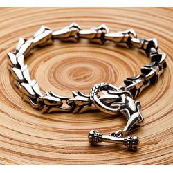 Мужской серебряный браслет